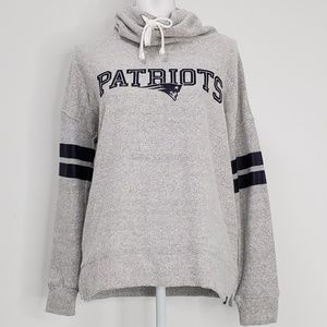 New England Patriots Cowl Neck Pullover Sweatshirt
